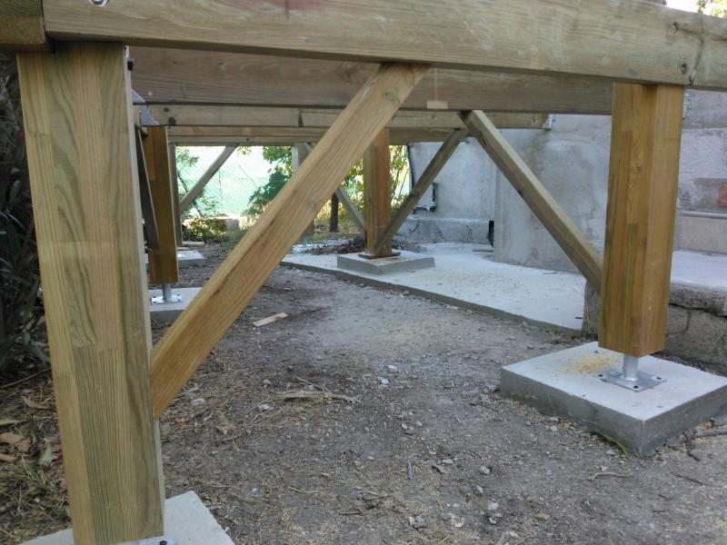 terrasse suspendue en ip et structure en pin classe 4 marseille pose de parquet et terrasse. Black Bedroom Furniture Sets. Home Design Ideas