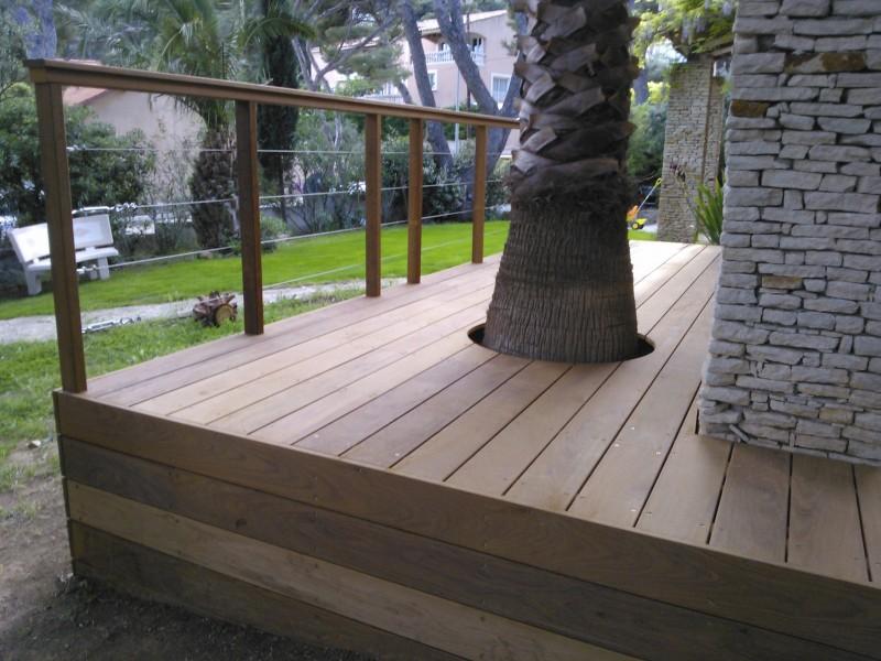 Terrasse prolong e et sur lev e en ip sur carry le rouet avec trou pour le p - Agrandir une terrasse surelevee ...